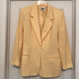 Leslie Fay Bright Yellow Blazer!
